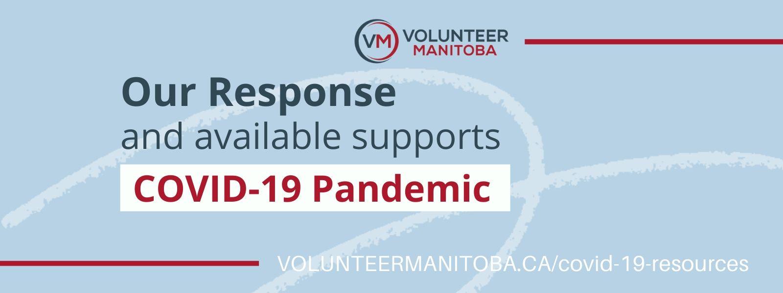 Volunteer Manitoba's Response to COVID-19